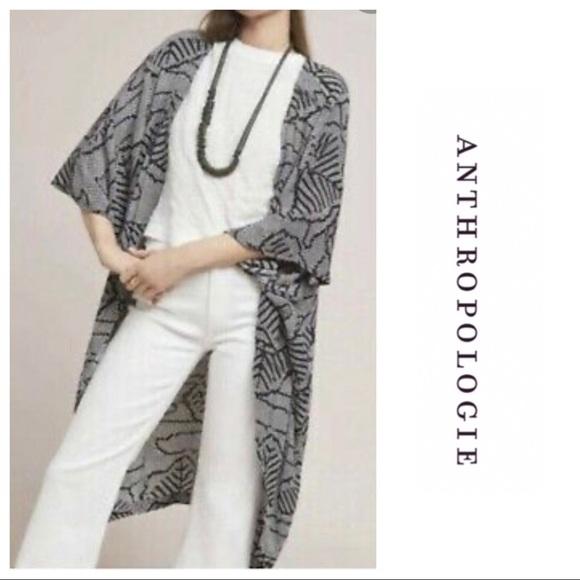 Anthropologie Abstract Print Kimono